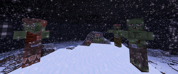 Minecraft Snow Zombies