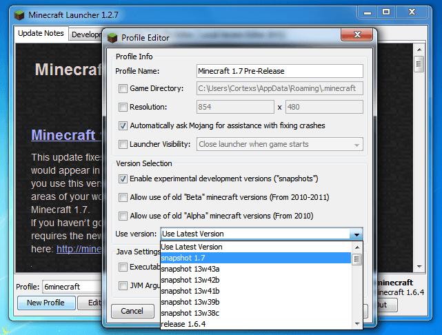 Minecraft 1.7 Pre-Release