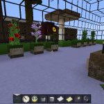 Garden in Minecraft using Modern HD Resource Pack