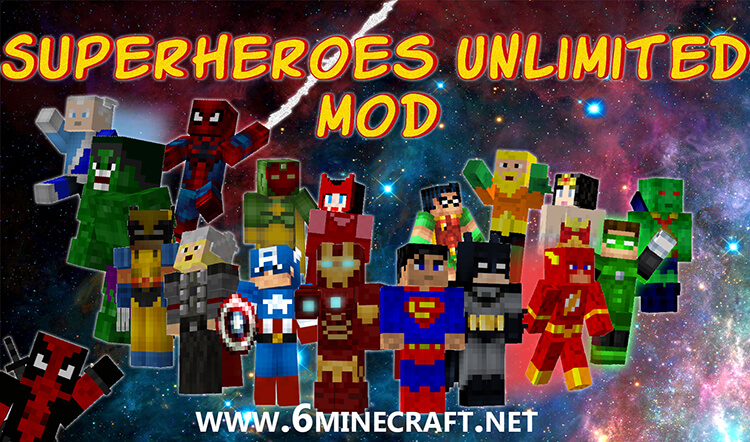 Superheroes Unlimited Mod 1.10/1.9.4/1.9/1.8.9