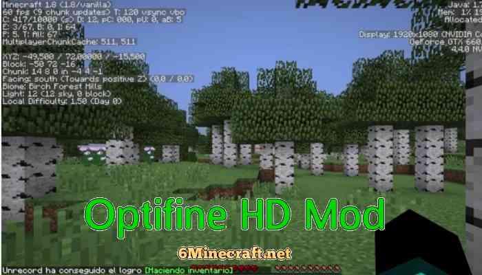 OptiFine HD Mod 1.9.4